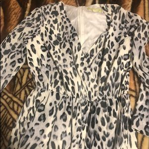 Jumpsuit leopard white grey and black